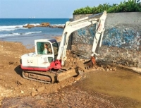 intervento in spiaggia