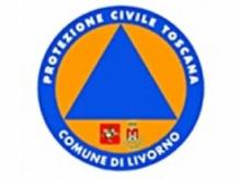 Lo stemma della protezione civile del comune di Livorno